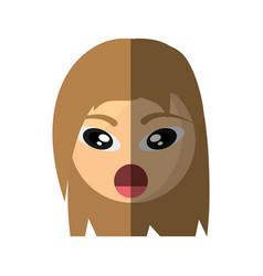 emoticon surprise cartoon design vector image vector image
