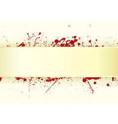 grunge inspired blood splat vector image vector image