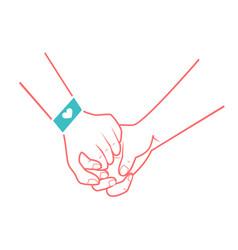 hands of people in love vector image