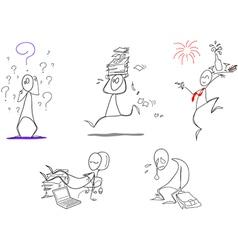 humorous clip arts vector image vector image
