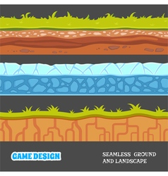 Seamless ground and landscape vector