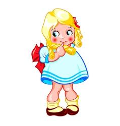 Sweet little girl vector