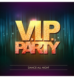 Typography Disco background VIP party vector image vector image