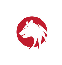 Wolf logo template design vector