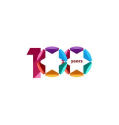 100 year anniversary diamond star template design vector