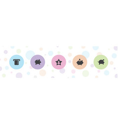 5 account icons vector