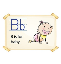 A letter b for baby vector