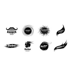 abstract logo for hair salon vector image