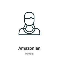 Amazonian outline icon thin line black vector