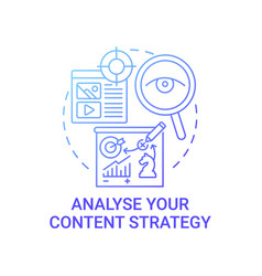 Analyse content strategy concept icon vector