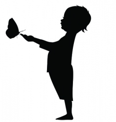 Baby butterfly vector