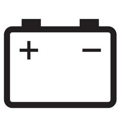 battery accumulator icon vector image