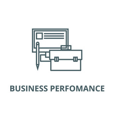 Business perfomancemonitor case pencil line vector