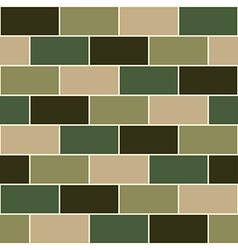 Camouflage green brick wall vector