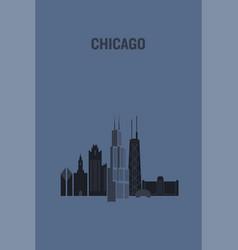 Chicago art design concept flat vector