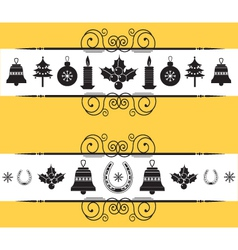 christmas decor elements for designNew year back vector image