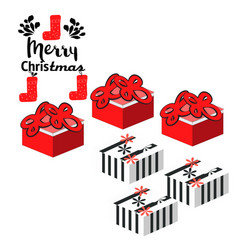 christmas presents and ornaments on background vector image