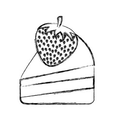 Delicious cake isolated icon vector