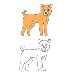 dog for coloring book vector image