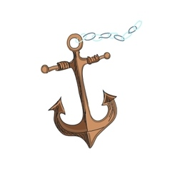 doodle anchor vector image