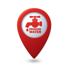Drinking water RED pointer vector