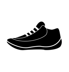 Flat black basket shoes icon vector