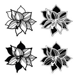 Flowers amarylis set 1 vector image
