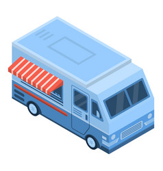 food truck icon isometric style vector image