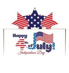 Fourth of july happy independence day vector