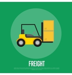 Freight banner with forklift truck vector image