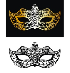 Golden Carnival Mask vector image