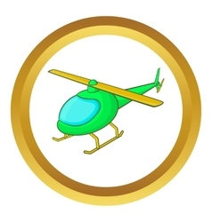 Green helicopter icon vector