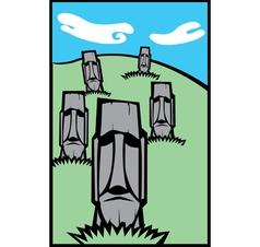 Group moai vector
