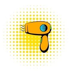 Hairdryer icon comics style vector