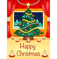 Hapy Christmas Card vector image