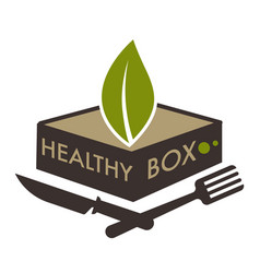 Healthy box dietary lifestyle with food rich in vector