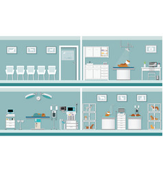 interior of pet clinic vector image