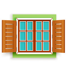 isolated retro vintage wooden window design vector image