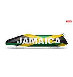 Jamaica bob for bobsleigh sport vector