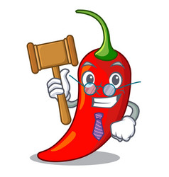 Judge red chili pepper isolated on mascot vector