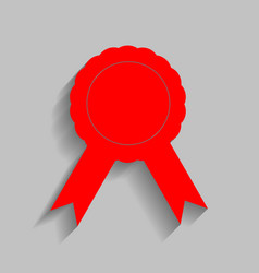 label sign ribbons red icon with soft vector image