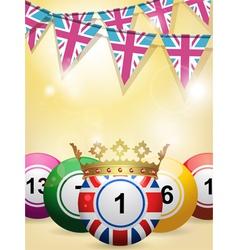Lottery Bingo Background vector image