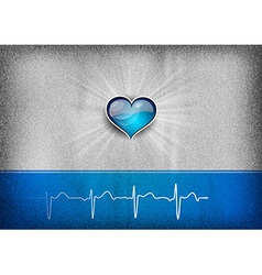 medical cardio heart grey blue vector image