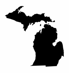 Michigan state silhouette map vector