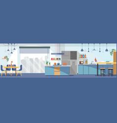 modern kitchen interior design cartoon vector image