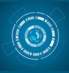 Modern virtual technology background poster vector