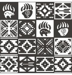 Navajo seamless monochrom tribal pattern vector