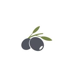 olives emblem olive oil logo element green olive vector image
