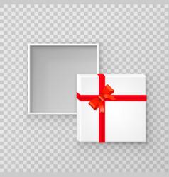 Open gift paper square box vector