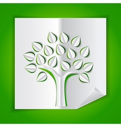 paper tree vector image